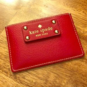Kate Spade Red Leather Cardholder